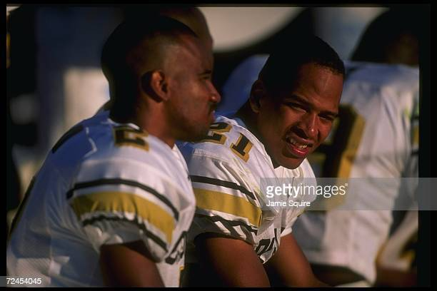 Wide receiver Rae Carruth of the Colorado Buffaloes looks on during a game against the Texas AM Aggies at Kyle Field in College Station Texas...