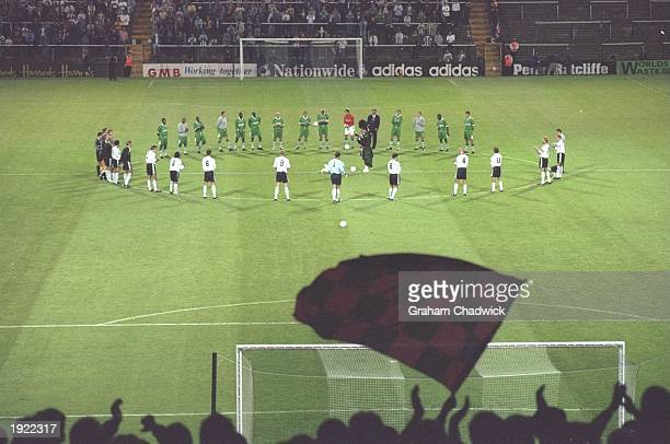 A minutes silence is held in tribute to Diana Princess of Wales and Dodi Al Fayed before a Nationwide League Division Two match between Fulham and...