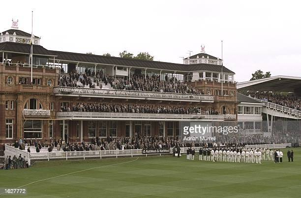 A minutes's silence as a mark of respect to Diana Princess of Wales at the NatWest Trophy final between Essex and Warwickshire at Lords Cricket...