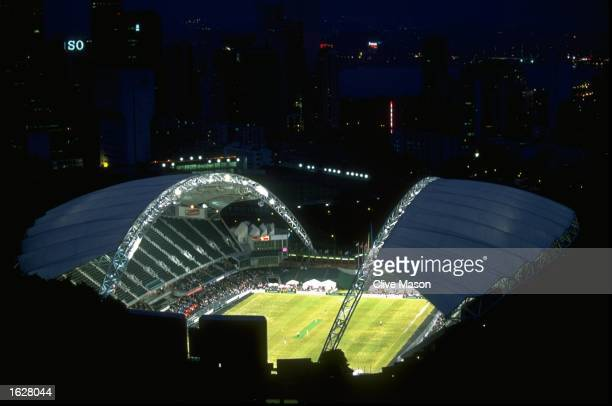 Aerial view of the Cricket Stadium venue for the Hong Kong Cricket Sixes in Hong Kong Mandatory Credit Clive Mason/Allsport
