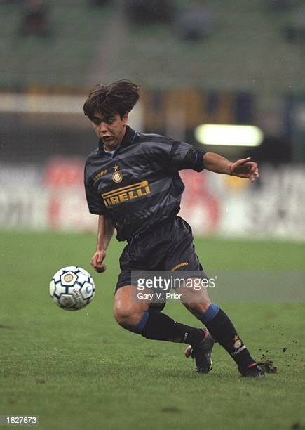 Alvaro Recoba of Inter Milan in action during the UEFA Cup First Round match against Neuchatel at the San Siro Stadium in Milan Italy Mandatory...