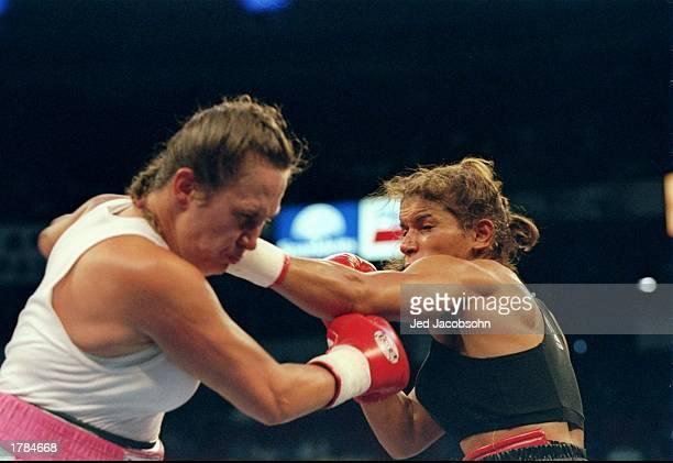Boxer Lucia Rijker battles Andrea DeShong at the Thomas and Mack Center in Las Vegas Nevada Mandatory Credit Jed Jacobsohn /Allsport