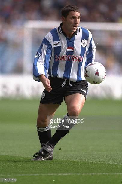 David Hirst of Sheffield Wednesday in action during the FA Carling Premiership match against Coventry City at the Hillsborough Stadium in Sheffield...