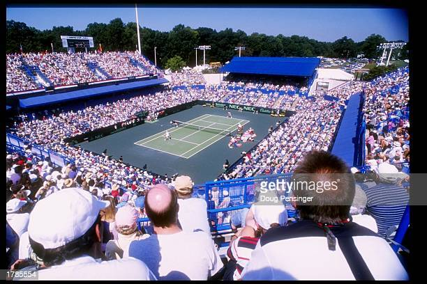 General view of a match during his Davis Cup Semi Final between the USA and Australia at the William Fitzgerald Tennis Center in Washington DC...