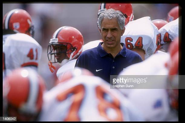 Head coach Paul Pasqualoni of Syracuse University during the Orangemen 3634 loss to the Oklahoma University Sooners at Oklahoma Stadium in Norman...