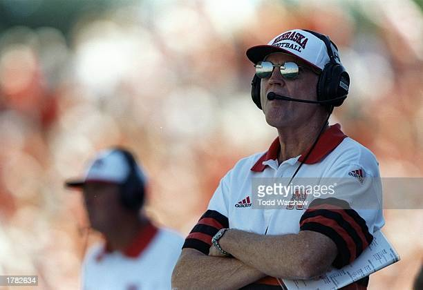 Head coach Tom Osborne of the University of Nebraska during the Cornhuskers 2714 win over the University of Washington at Husky Stadium in Seattle...
