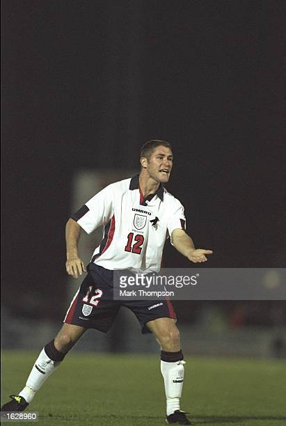 Lee Bradbury of England calls for the ball during the under 21 match against Moldova at Adams Park in Wycombe England Mandatory Credit Mark Thompson...