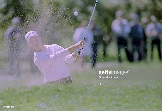 Phil Tataukangi hits the ball during the Canadian Open at the Royal Montreal Golf Course in Montreal Quebec
