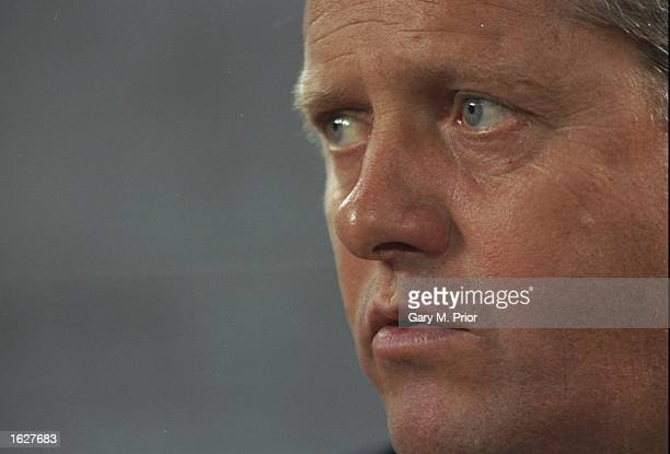 Portrait of Feyenoord Coach Arie Haan during the Champions League match against Juventus in Turin Italy Juventus won the match 51 Mandatory Credit...