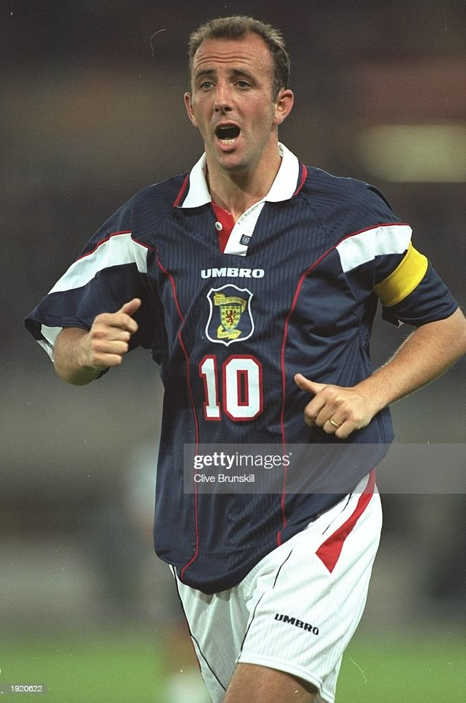 Portrait of Gary McAllister of Scotland during the World Cup qualifying match against Austria in Vienna, Austria. The match ended in a 0-0 draw. \ Mandatory Credit: Clive Brunskill/Allsport