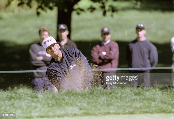 Rocco Mediate hits the ball during the Canadian Open at the Royal Montreal Golf Course in Montreal Quebec