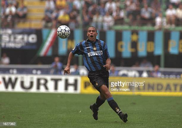 Ronaldo of Inter Milan in action during the Serie A match against Fiorentina at the San Siro Stadium in Milan Italy Mandatory Credit Allsport UK...