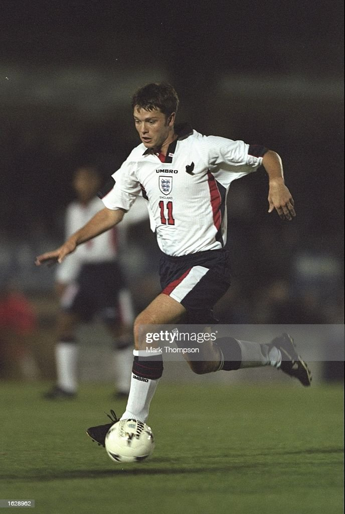 Stephen Hughes of England in action during the under 21 match against Moldova at Adams Park in Wycombe, England. \ Mandatory Credit: Mark Thompson /Allsport