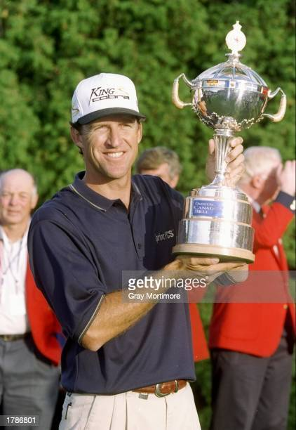 Steve Jones celebrates after the Canadian Open at the Royal Montreal Golf Course in Montreal Quebec