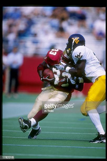 Tailback Omari Walker of the Boston College Eagles in action during a game against the West Virginia Mountaineers at Conte Stadium in Boston...