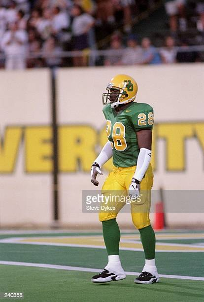 Tailback Saladin McCullough of the Oregon Ducks looks on during a game against the Arizona Wildcats at Autzen Stadium in Eugene Oregon Oregon won the...