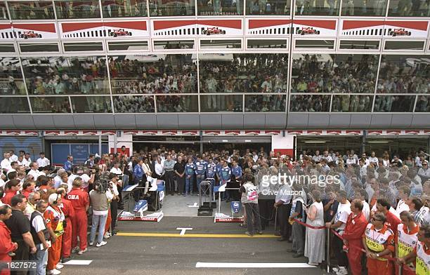 The drivers pay their respects to Diana Princess of Wales with a minute's silence before the Itralian Grand Prix at the Monza circuit in Italy...