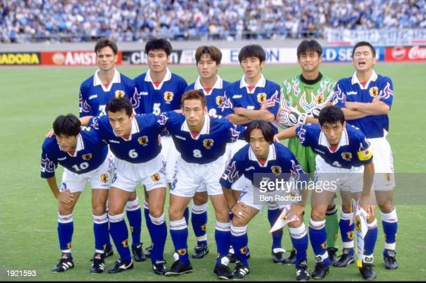 The Japan team line up before the World Cup qualifier against South Korea at the National Stadium in Tokyo, Japan. South Korea won 2-1. \ Mandatory...