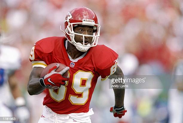 Wide receiver Andre Rison of the Kansas City Chiefs in action during a game against the Buffalo Bills at Arrowhead Stadium in Kansas City Missouri...