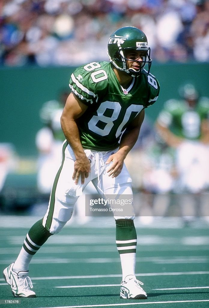 check out 57d88 c5d0c Wide receiver Wayne Chrebet of the New York Jets lines up at ...