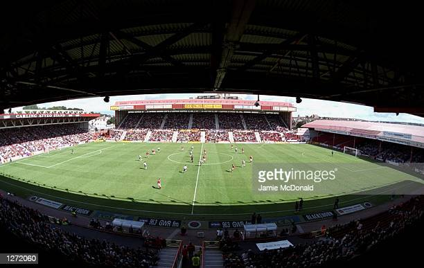 A general view of the ground during the match between Bristol City v West Brom Albion in the Nationwide Division One played at Ashton Gate Bristol...