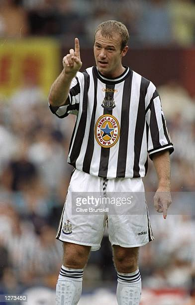 Alan Shearer of Newcastle in action during the FA Carling Premiership match against against Coventry at Highfield Road in Coventry England Newcastle...