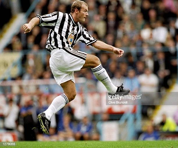 Alan Shearer of Newcastle in action during the FA Carling Premiership match against Coventry at Highfield Road in Coventry England Newcastle won the...