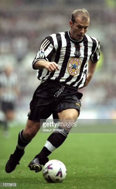 Alan Shearer of Newcastle United in action during the FA Carling Premiership game against Nottingham Forrest at St James'' Park Newcastle England...