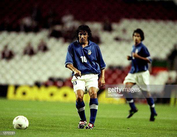 Alessandro del Piero of Italy in action during the Euro 2000 Qualification game against Wales at Anfield in Liverpool, England. Italy won the game...