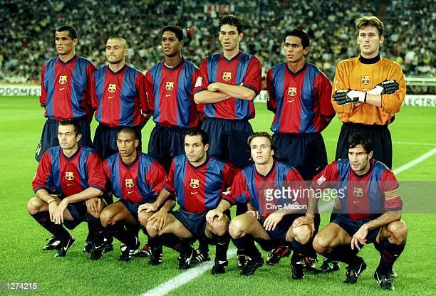 Barcelona line up before the Primera Liga match against Real Madrid at the Bernabeu in Madrid Spain The game ended 22 Mandatory Credit Clive Mason...