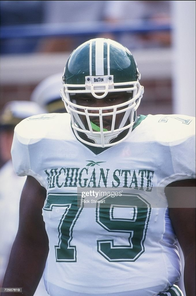 Center Jason Strayhorn of the Michigan State Spartans in action ...