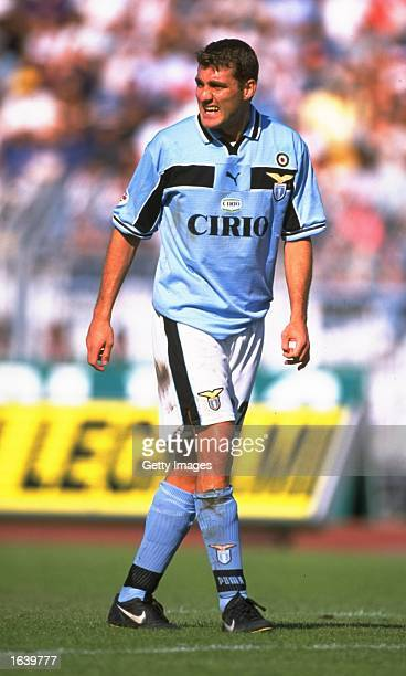 Christian Vieri of Lazio in action during the Serie A game against Piacenza Italy Mandatory Credit Allsport UK /Allsport