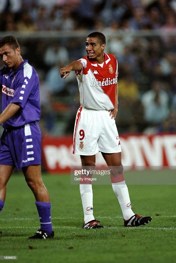 David Trezeguet of Monaco : News Photo