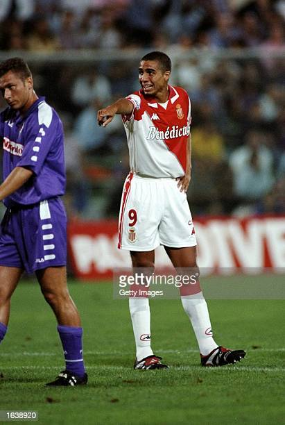 David Trezeguet of Monaco in action during a PreSeason match against Fiorentina played at the Stadio Communale in Florence Italy Mandatory Credit...