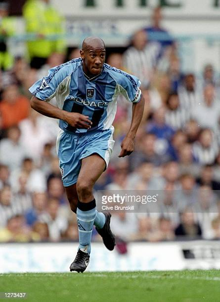 Dion Dublin of Coventry in action during the FA Carling Premiership match against Newcastle at Highfield Road in Coventry, England. Newcastle won the...
