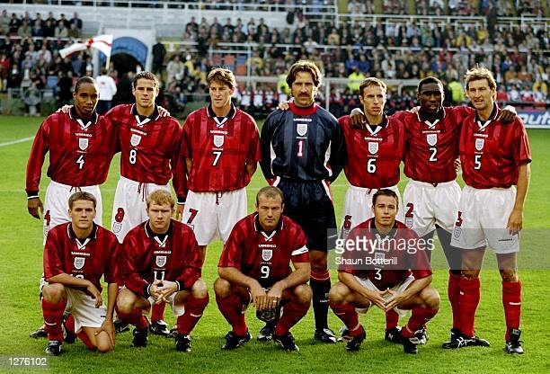 England line up before the European Championship qualifier against Sweden at the Rasunda Stadium in Stockholm Sweden Sweden won 21 Mandatory Credit...