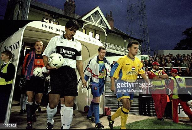 Fulham and Southampton leave the tunnel during the Worthington Cup Round 2 leg 1 against Fulham at Craven Cottage in Fulham, England. The game ended...