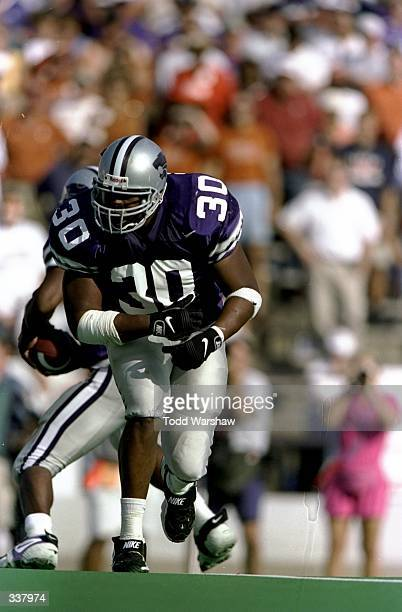 Fullback Brian Goolsby of the Kansas State Wildcats in action during a game against the Texas Longhorns at the KSU Wagner Field in Manhattan Kansas...