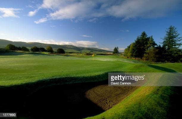 General view of the 11 hole par 3 on the Kings Course at The Gleneagles Hotel in Gleneagles, Scotland. \ Mandatory Credit: David Cannon /Allsport