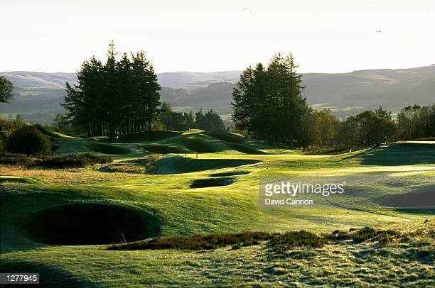 General view of the 13th hole par 4 woth the 14th par 4 behind on the Kings Course at The Gleneagles Hotel in Gleneagles Scotland Mandatory Credit...