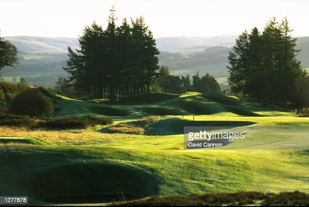 General view of the 14 hole par 4 on the Kings Course at The Gleneagles Hotel in Gleneagles Scotland Mandatory Credit David Cannon /Allsport