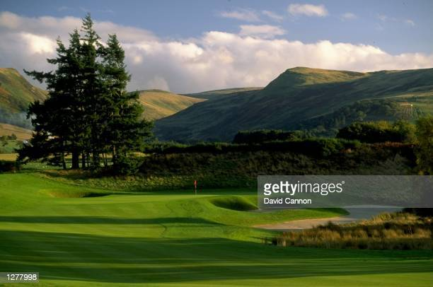 General view of the 1st hole par 4 on the Kings Course at The Gleneagles Hotel in Gleneagles Scotland Mandatory Credit David Cannon /Allsport