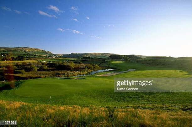General view of the 9th hole par 5 on the Kings Course at The Gleneagles Hotel in Gleneagles, Scotland. \ Mandatory Credit: David Cannon /Allsport