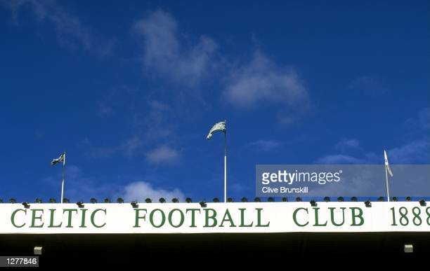 General view of the Celtic Park stadium during the Scottish Premeir League match between Celtic and Kilmarnoch in Glasgow Scotland The game ended in...