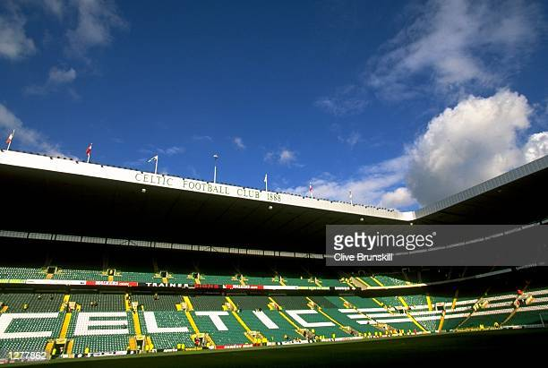 General view of the Celtic Park stadium during the Scottish Premeir League match between Celtic and Kilmarnoch in Glasgow, Scotland. The game ended...