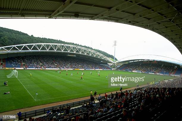 General view of the McAlpine Stadium the home of Huddersfield Town during the Nationwide Division one game against Sheffield United in Huddersfield...
