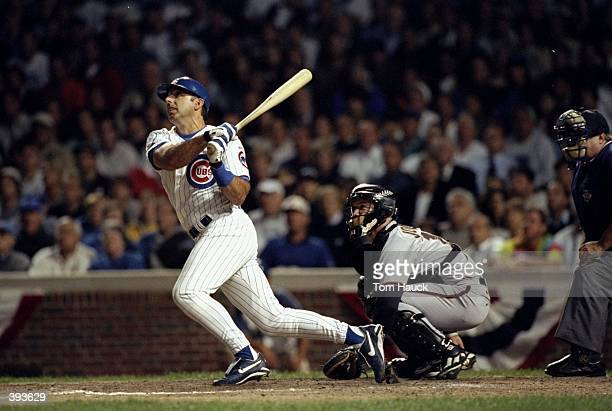Infielder Gary Gaetti of the Chicago Cubs in action during a playoff game against the San Francisco Giants to determine the National League Wild Card...