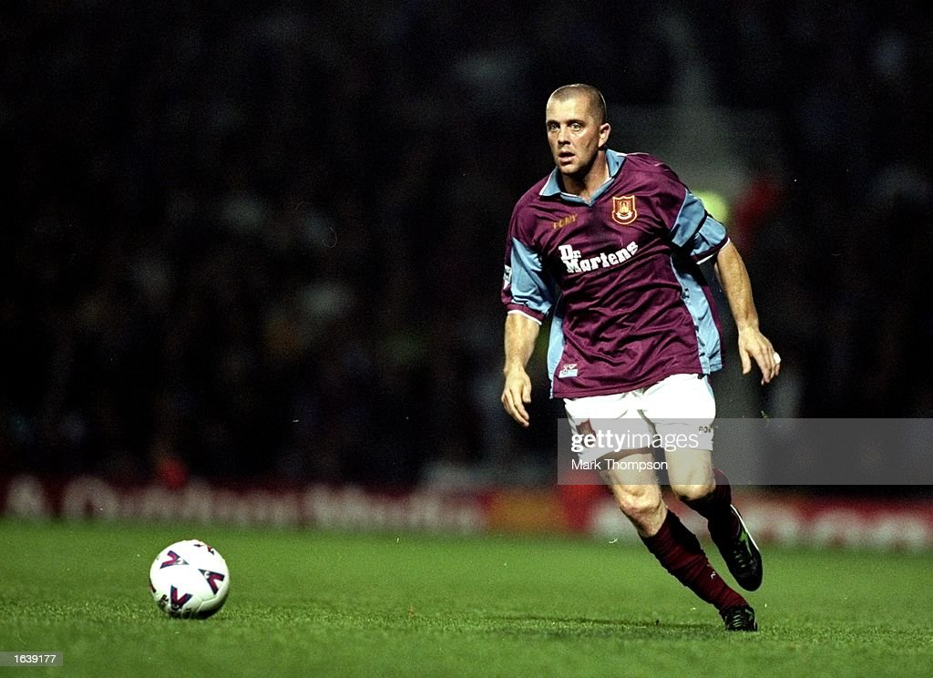 Julian Dicks of West Ham in action during the FA Carling Premiership match against Northhampton at Upton Park in London, England. West Ham won the match 1-0. \ Mandatory Credit: Mark Thompson /Allsport