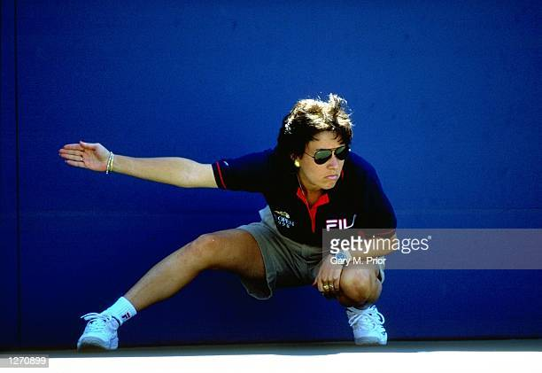 Line Judge in action at the US Open at Flushing Meadow in New York, America. \ Mandatory Credit: Gary M Prior/Allsport