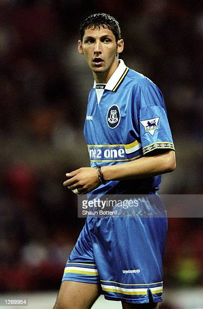 Marco Materazzi of Everton in action during the FA Carling Premiership match against Nottingham Forest at the City Ground in Nottingham England...